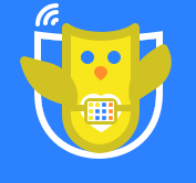 Owl mascot wearing an AAC Device